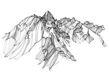 Исследование горных вершин ручкой