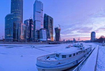 Москва-Сити пережила сильнейший снегопад
