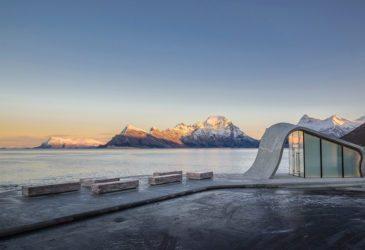 Необычная остановка на берегу Норвежского моря