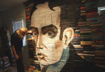 Книжные инсталляции Майка Стилке