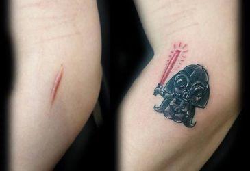 Креативные татуировки, использующие особенности тела владельца