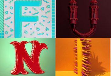 26 художников создали уникальный бумажный алфавит