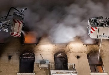 В историческом доме на Никитском бульваре произошел пожар
