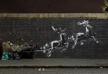 Бэнкси в Бирмингеме и новое рождественское граффити